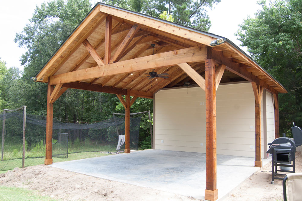 Outdoor Patio With Storage Shed