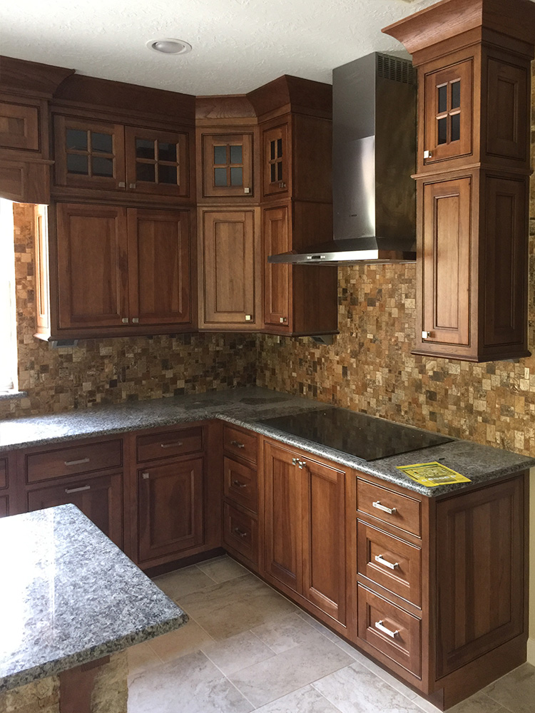 Electrical stove with hood for kitchen remodel