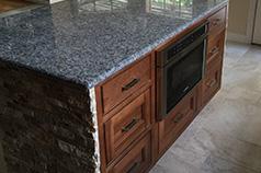Hidden kitchen remodel touches in island.